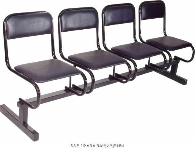 Секция стульев с мягкой спинкой и сидением